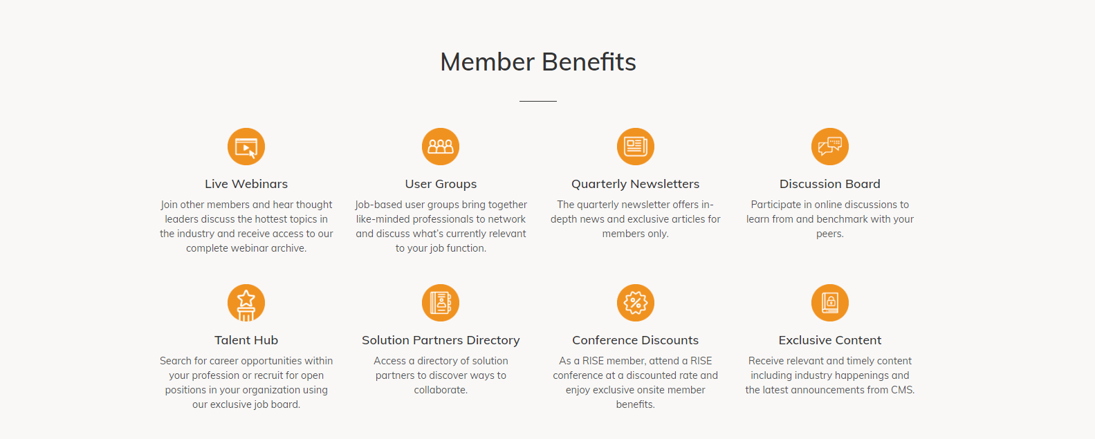 Rise Association Member Benefits